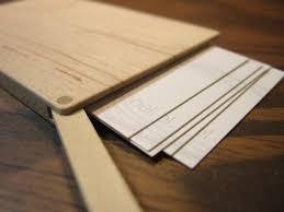 slim business cards wood business card holder slim maple