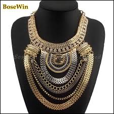 boho necklace wholesale images Fashion boho style exaggerated multilevel chain statement jpg