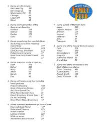 printable family feud 25 unique family feud questions