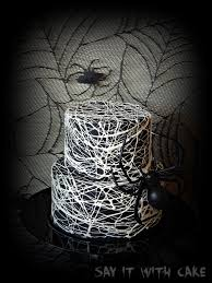 Halloween Cakes Easy To Make by Spider Web Cake Say It With Cake