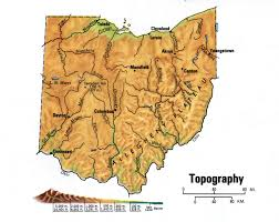 Map Ohio State ohio topographic mapfree maps of us