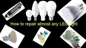 how to repair fix broken led light bulb youtube