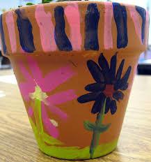 cassie stephens painting flower pots