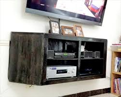 Wall Mounted Entertainment Shelves Pallet Tv Stands 99 Pallets