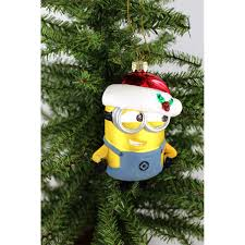despicable me minions kurt adler glass ornament