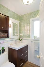 sonoma tilemakers powder room contemporary with light green dark