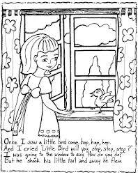 free printable nursery rhymes coloring pages kids