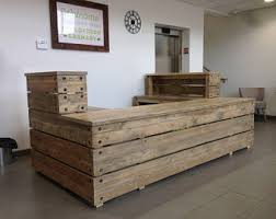 Restaurant Reception Desk Reclaimed Reception Desk Rustic Industrial Custom Made Chic
