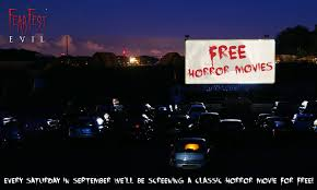 free horror movies at the drive in cinema over september