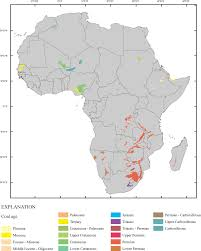 Continent Of Africa Map by Usgs Open File Report 2008 1258