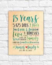 15 year anniversary gift ideas for modern anniversary gift idea choose any year wedding or