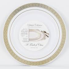 ezware dishes palatial gold disposable plastic dinner plate