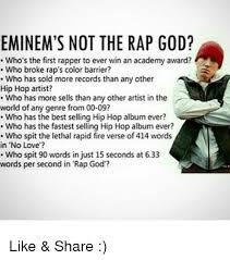 Eminem Rap God Meme - eminem s not the rap god who s the first rapper to ever win an