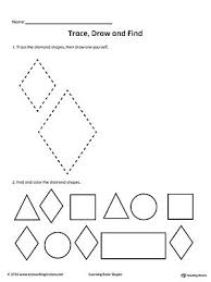 105 best shapes worksheets images on pinterest shapes worksheets