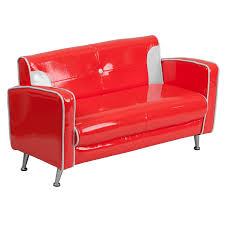 Red Loveseat Mfo Kids Red And White Loveseat