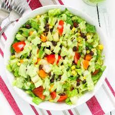 black bean salad with avocado dressing recipe popsugar latina