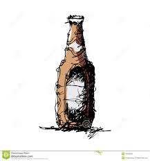 beer bottle cartoon sketch drawing of a beer bottle stock vector image 42803862