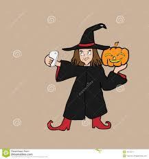 selfie witch halloween cartoon stock vector image 45125911