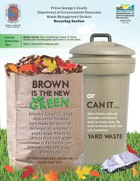 yard trim waste collection prince george u0027s county md