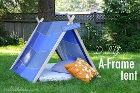 Tent In Backyard by Diy A Frame Tent
