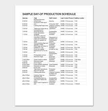 production timeline template 4 for word u0026 excel