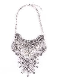 necklace statement images Glam statement necklace in silver happiness boutique jpg