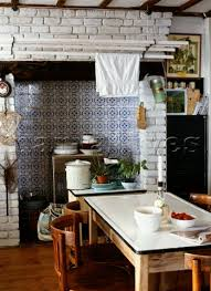 kitchen fireplace ideas style blue and white tiles in the kitchen fireplace