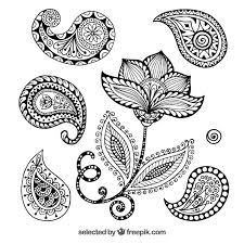 henna ornaments vector free