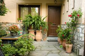 home entrance home front entrance doors and humble entrance ways potted plants for