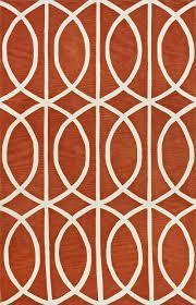 Loop Rugs Infinity Pumpkin Poly Acrylic Plush And Loop Pile Rug Geometric