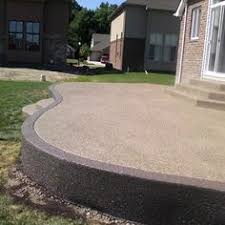 Exposed Aggregate Patio Stones Exposed Aggregate Concrete Types Merner House Driveway