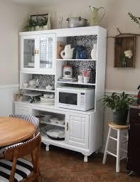 hutch kitchen furniture an 80 s wall unit into a kitchen hutch hometalk