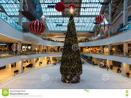 christmas tree in lloyd center portland or editorial image