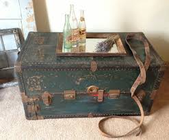 Antique Side Tables For Living Room Coffee Table Antique Leather Travel Trunk C 1890 Coffee Table Size