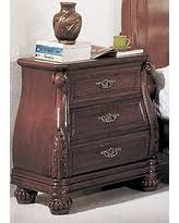deals on ca7733n calidonian 3 drawer marble top nightstand in a cherry