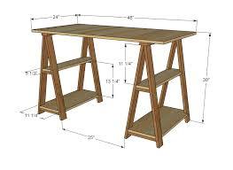 build a simple computer desk plans