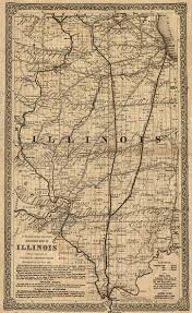 Map Of Illinois by Railroad Map Of Illinois 1861