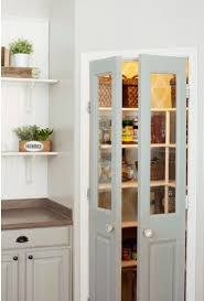 pantry door with frosted glass interior doors from drab to dramatic kitchen pantry doors
