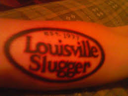 my louisville slugger tattoo with my birth year