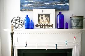 summer vintage nautical mantel decor 2 bees in a pod