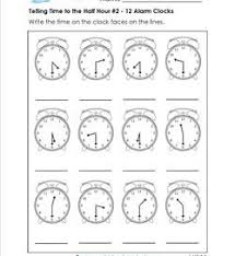 1st grade telling time worksheets a wellspring of worksheets