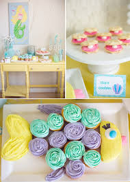 Mermaid Decorations For Party Kara U0027s Party Ideas Mermaid Birthday Party Planning Ideas Supplies
