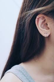 hoop earring on cartilage 8mm 10mm hoop earrings cartilage hoop by happylittledainty