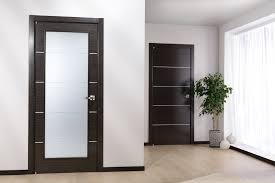 interior doors for home solid wood covered with a wood veneer finish glass