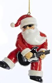 3 5 white and black rock n roll santa claus