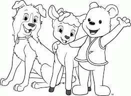 awana cubbies bear sheep dog coloring page coloring home