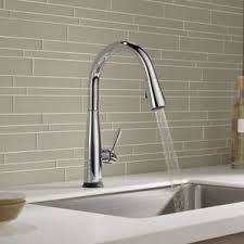 almond kitchen faucet wrist blade kitchen faucets you ll wayfair