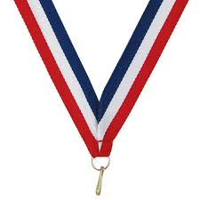 white blue ribbon 875 white blue neck ribbon jones school supply