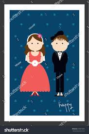 Wedding Poster Template Happy Wedding Poster Template Vectorillustration Background Stock