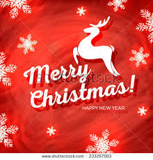 merry christmas happy new year card stock vector 233267503